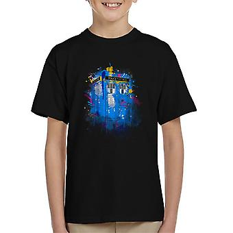 Doctor Who Tardis Splash Kid's T-Shirt