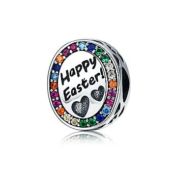 Sterling silver charm Happy Easter SCC575
