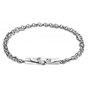 Anker und Crew Mainsial Single Segel Kette Armband - Silber