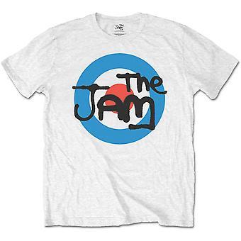 La t-shirt t-shirt Jam ~ Spray Target Logo bianco