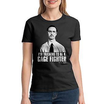 Napoleon Dynamite Cage Fighter Women's Black Funny T-shirt