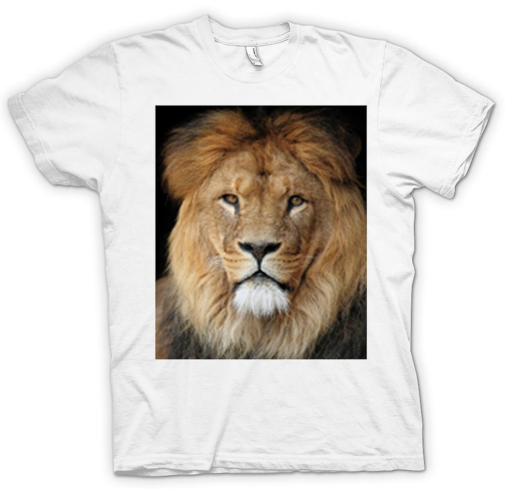 Womens T-shirt-Lion kleur portret