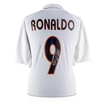 Ronaldo de Lima ondertekend 2004-05 Real Madrid Home Shirt