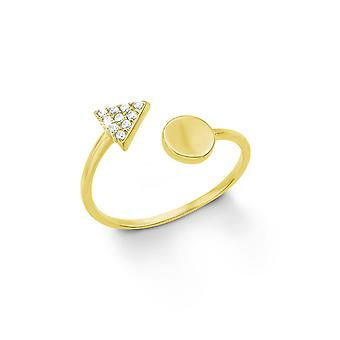 s.Oliver jewel ladies ring silver gold cubic zirconia 201266