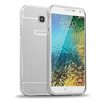 Alu Bumper 2 teilig mit Abdeckung Silber für Samsung Galaxy A7 2016 A710F