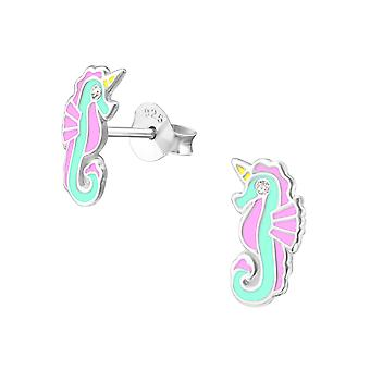 Seahorse - 925 Sterling Silver Crystal Ear Studs