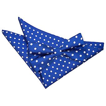 Royal Blue Polka Dot Papillon & Set Square Pocket