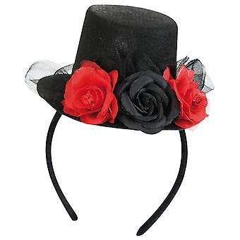 Headband with mini-cylinder roses accessory Carnival Halloween