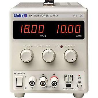 Aim TTi EX1810R Bench PSU (adjustable voltage) 0 - 18 Vdc 0 - 10 A 180 W No. of outputs 1 x