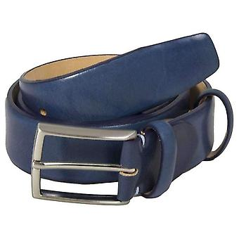 40 Colori Venezia Florentine Leather Belt - Night Blue
