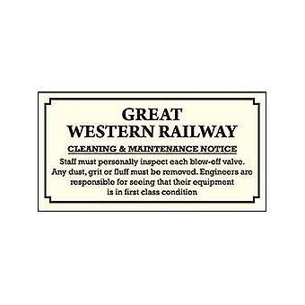 GWR limpieza & mantenimiento esmaltado acero signo