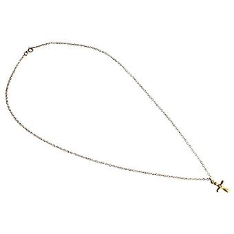 Cross pendant necklace ladies diamond silver gold plated cross