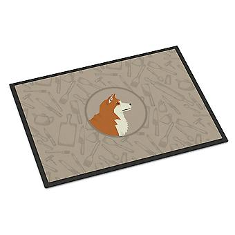 Carolines Treasures  CK2159JMAT Akita In the Kitchen Indoor or Outdoor Mat 24x36