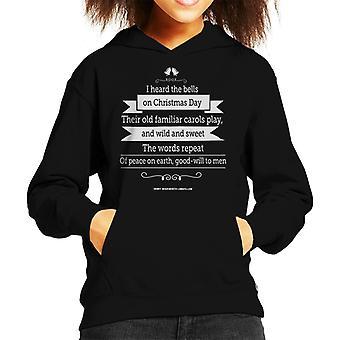 Christmas Good Will To Men Quote Kid's Hooded Sweatshirt