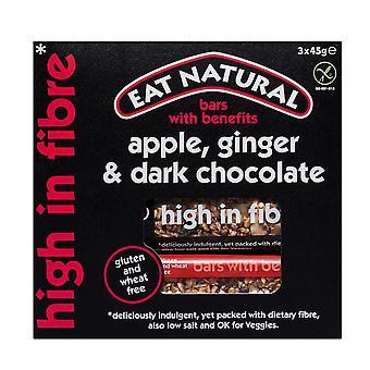 Essen Sie natürlichen Apfel, Ingwer und Dark Chocolate Bar