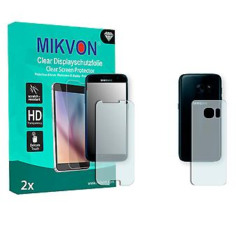Samsung Galaxy S7 Screen Protector - Mikvon Clear (Retail Package with accessories) (1x FRONT / 1x BACK) (reduced foil)