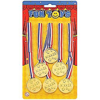 Gewinner-Medaillen (6 pro Karte)