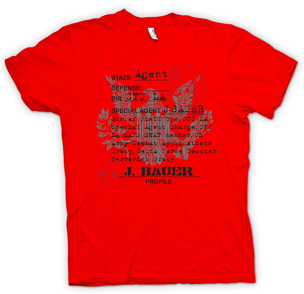 Mens T-shirt - 24 Jack Bauer CTU Agent CIA - TV - Movie