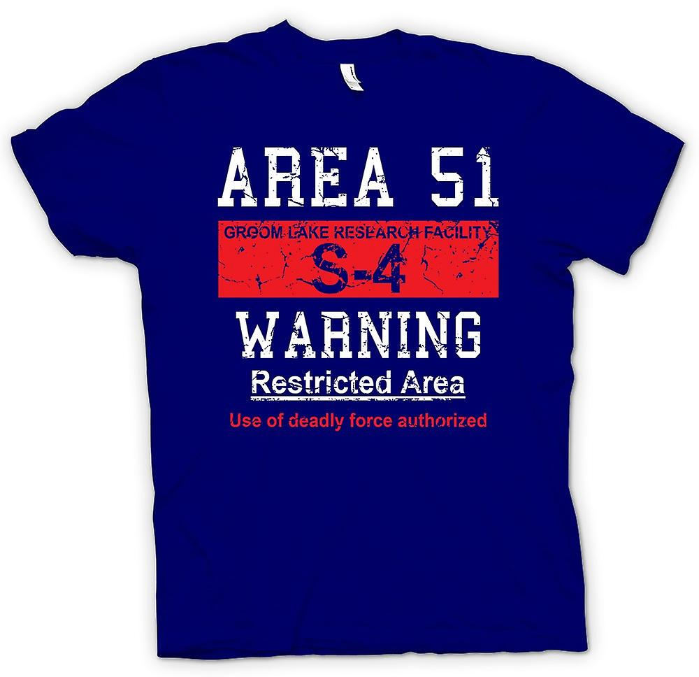Mens T-shirt - Area 51 Sign - UFO - Conspiracy