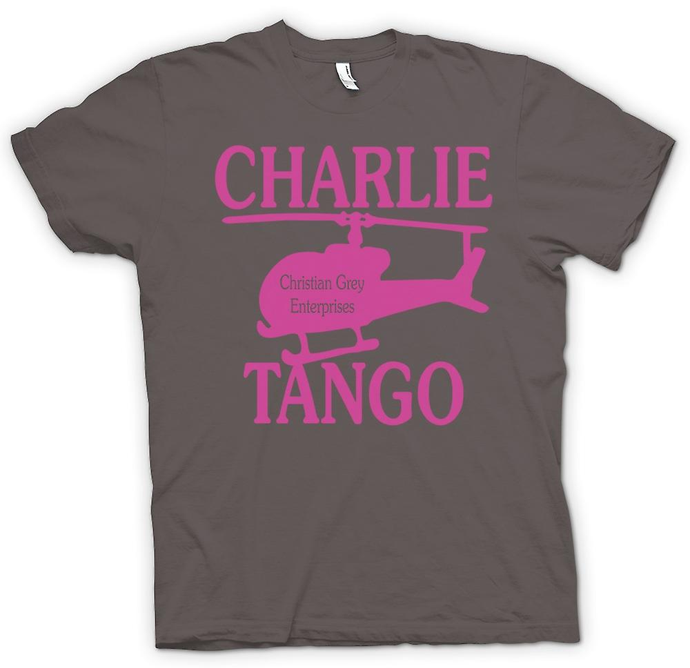 Mens T-shirt - Christian Grey Enterprises - Charlie Tango