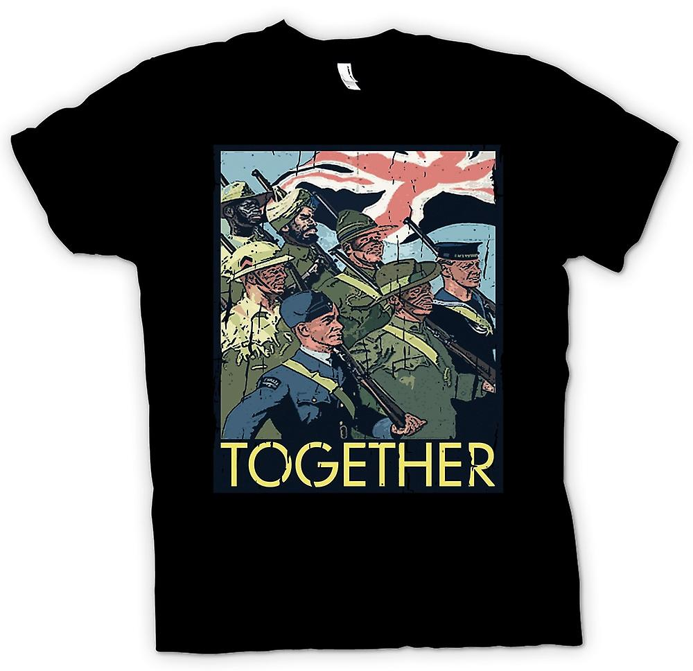 Womens T-shirt - Together - WW2 Commonwealth Troops - World War