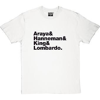 Slayer Line-Up Men's T-Shirt