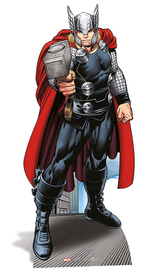 Recorte de cartón de Lifesize de Thor / pie / pie - Marvel los Vengadores Super Hero