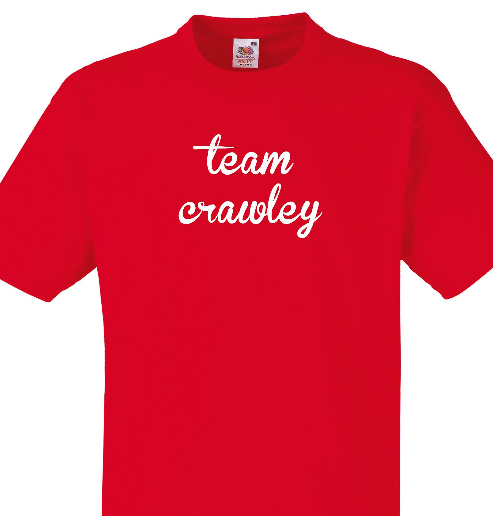 Team Crawley Red T shirt