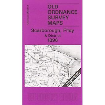 Scarborough, Filey and District 1896: One Inch Sheet 54 (Old Ordnance Survey Maps) [Folded Map]