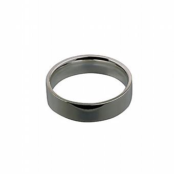 Platinum 6mm plain flat Court shaped Wedding Ring Size Z
