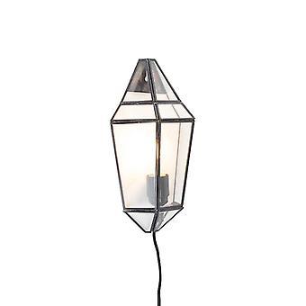 QAZQA Art Deco Wall Lamp Half zwart met duidelijke Shade - Scone