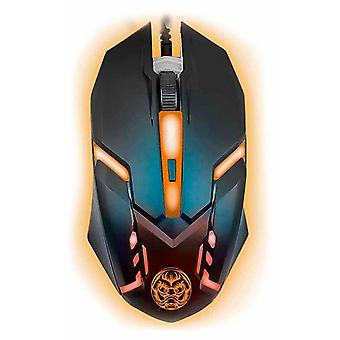 Gaming mouse iggual IGG315828 LED nero arancione
