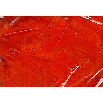 5g Red Fluffy Craft Feathers | Scrapbooking Card Making Embellishments