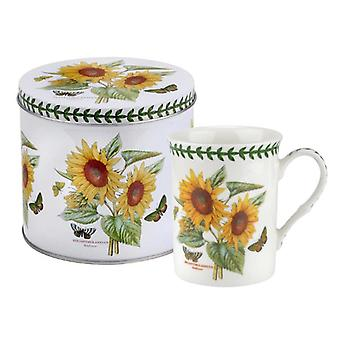 Portmeirion Botanic Garden Sunflower Mug and Tin Set