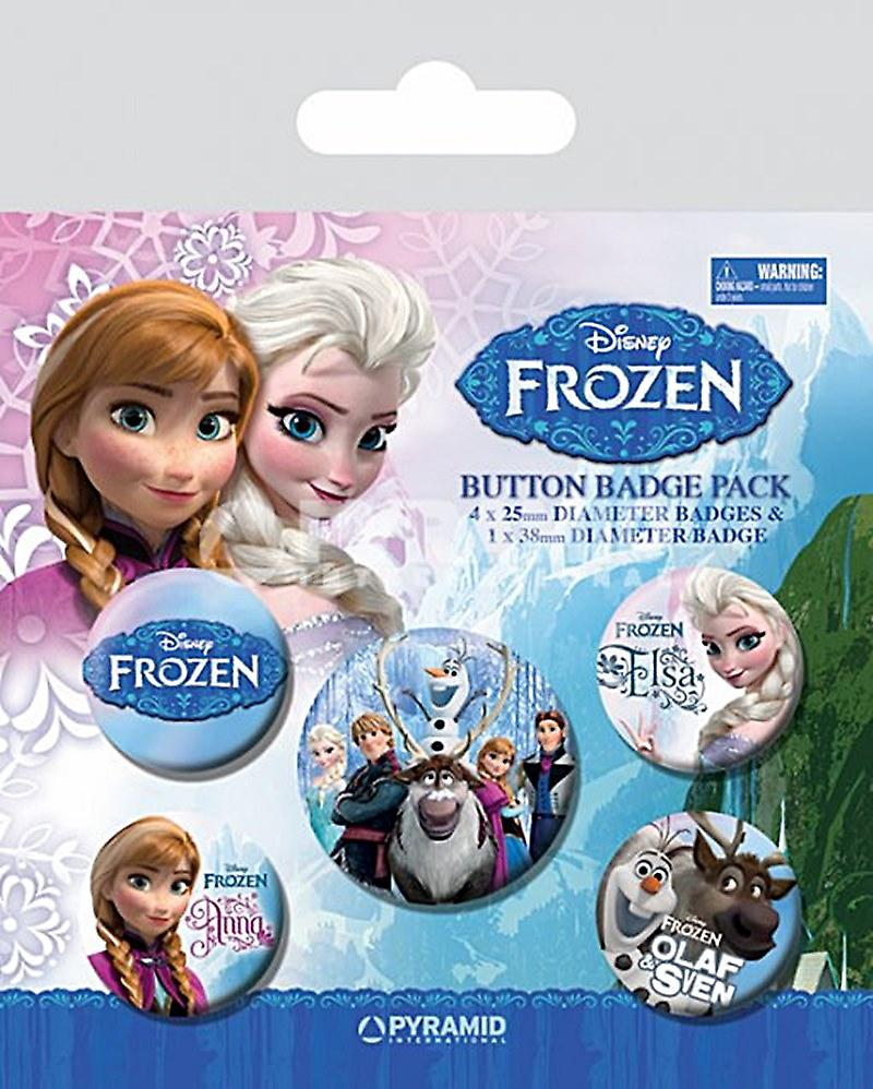 Frozen (film) 5 round Pin Badges in Pack (py)