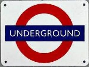 (London) Underground roundel small steel enamel sign (ba)