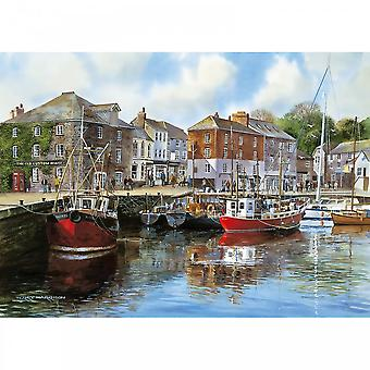 Gibsons Padstow Harbour By Terry Harrison 1000 Piece Puzzle