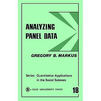 Analyzing Panel Data by Markus & Gregory B.
