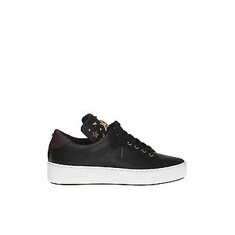 Michael Kors Black Leather Sneakers