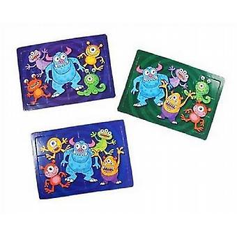 Party för väska Lucky Dip Mini pussel monster Puzzle 12 X 8,5 cm packe av 120 - (303063)