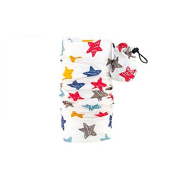 MaxFred cloth multifunctional children's pirate cloth with star pattern Stella White