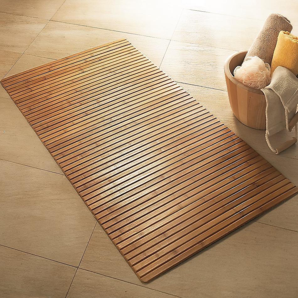 bambus holz badematte fruugo. Black Bedroom Furniture Sets. Home Design Ideas
