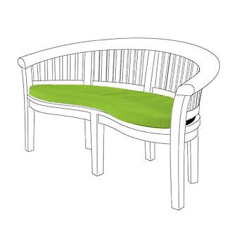 Gardenista® Lime Water Resistant Seat Pad for Curved Banana Bench