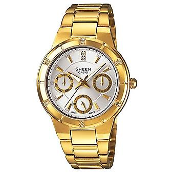 Casio Sheen Ladies Gold Chronograph Watch SHE-3800GD-7AEF