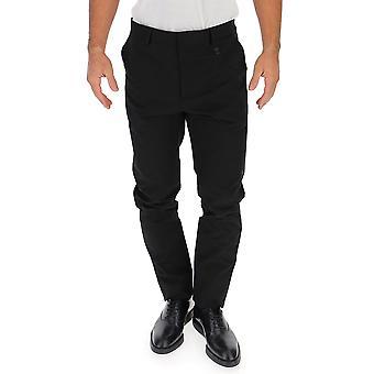 Pantalón de algodón negro de Moschino