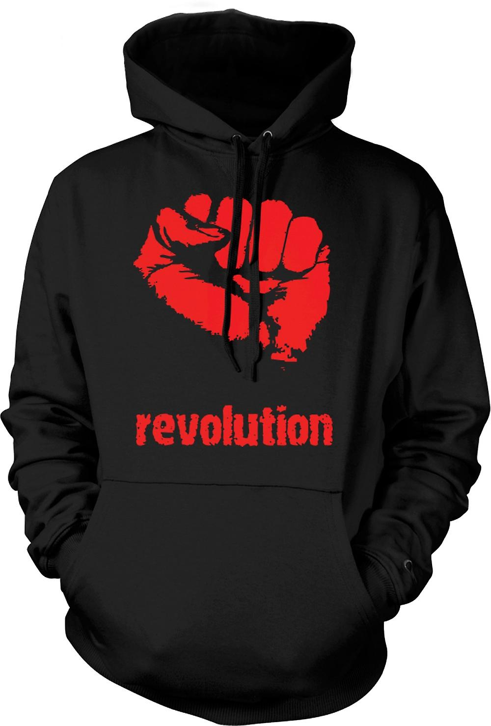 Mens Hoodie - Revolution - Anarchy
