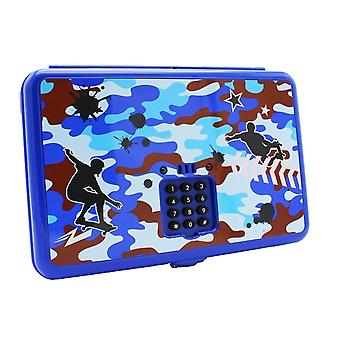 Hot Focus Digital Trinket Box with Secret Code, Blue Camo