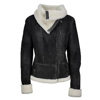 Damen Lammfelljacke Aviator Girl
