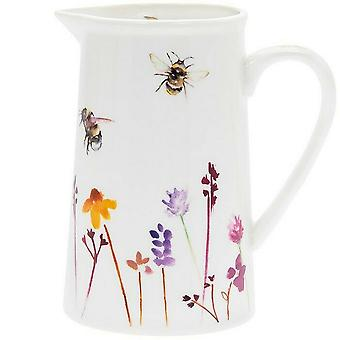 Busy Bees Wildflower Ceramic Jug