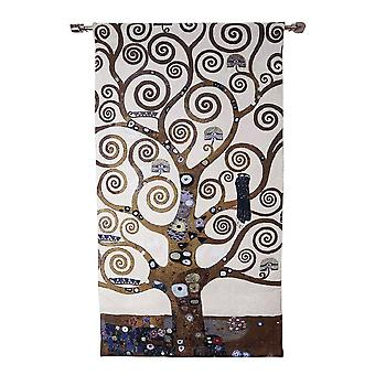 Gustav klimt - tree of life wall hanging by signare tapestry / 78cm x 138cm / wh-gk-tl-2